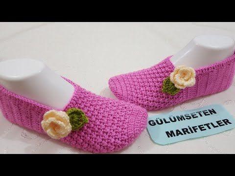 Slippers with a Flower – Crochet Tutorial - Design Peak