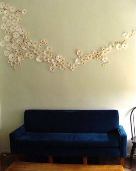 coffee filters as wall art