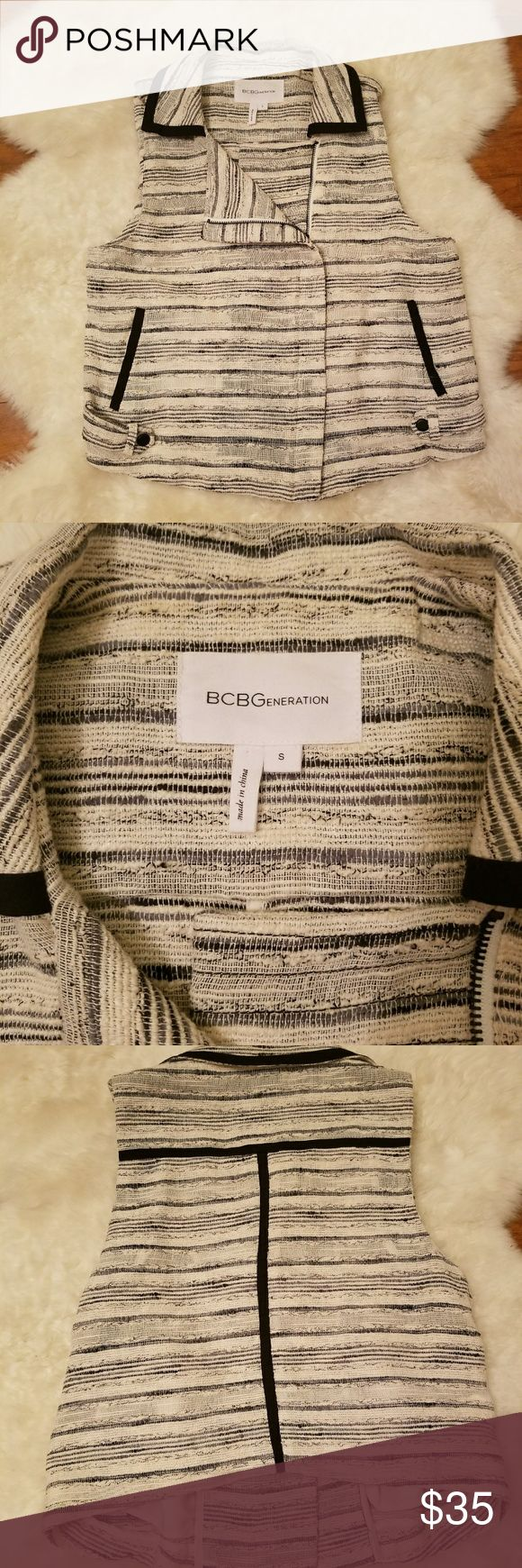 BCBGeneration Vest Size Small Like New! BCBGeneration Vest Size Small Like New! 33in long, bust 36in BCBGeneration Tops