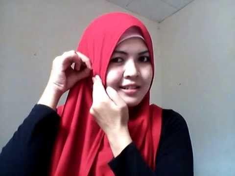 Simple Pashmina Hijab Tutorial for Round Face by Siti Nurbayani - YouTube