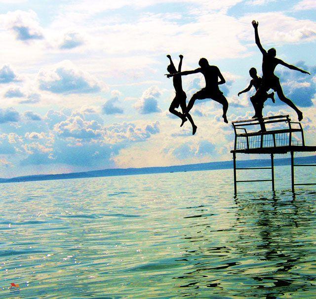 jumping into the water#Balaton#Hungary