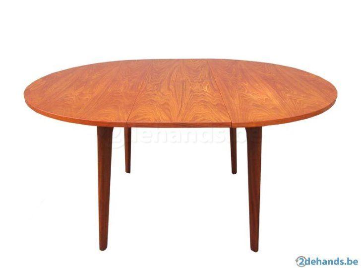 Vintage webe ronde teak houten uitschuifbare eettafel tafel te koop ideas for the house - Grote ronde houten tafel ...