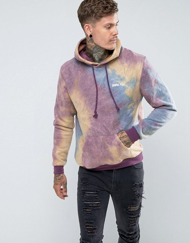 Roadies of 66 Oversized Tie Dye Hoodie - Purple