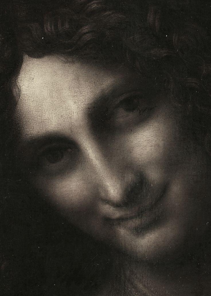Leonardo, St. John the Baptist (detail), c. 1513-16