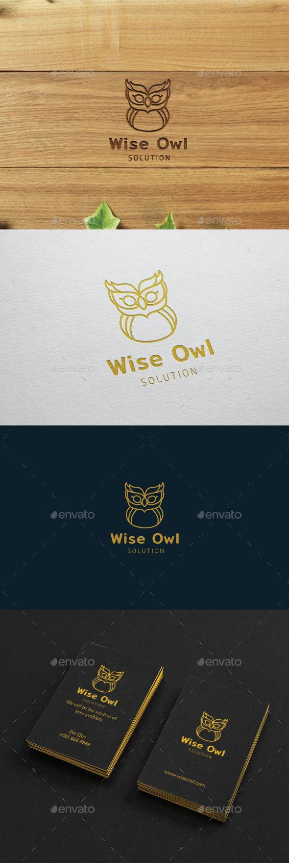 Wise Owl Logo - Animals Logo Templates download https://graphicriver.net/item/wise-owl-logo/20153349?ref=imanvector