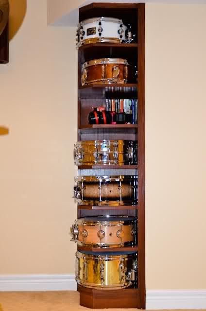 Awesome set up - definitely doing this to J's drum room!
