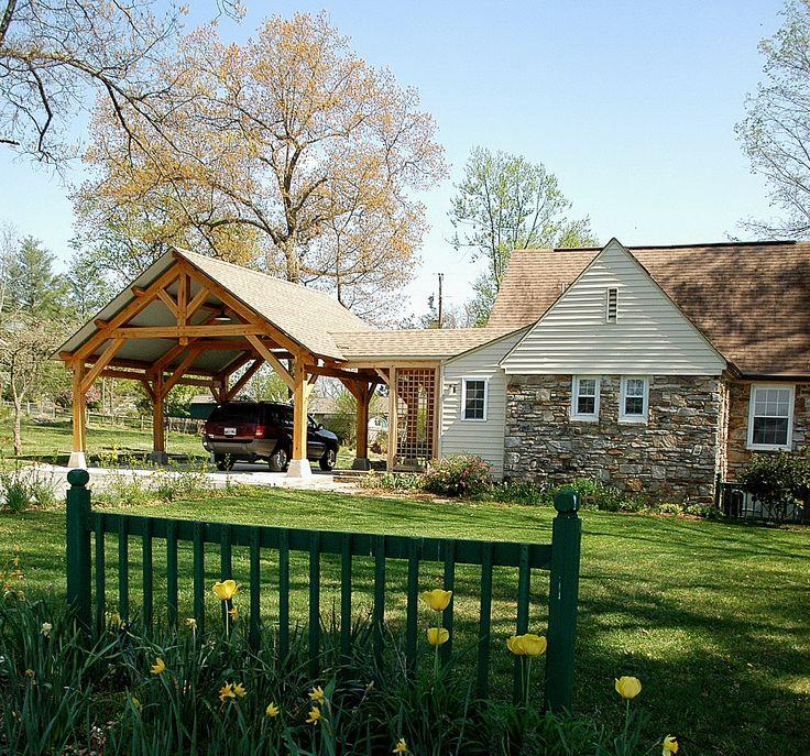 Outdoor Living - Timber Frame Pavilion -  Timber Frame Porte-Cochere - Timber…
