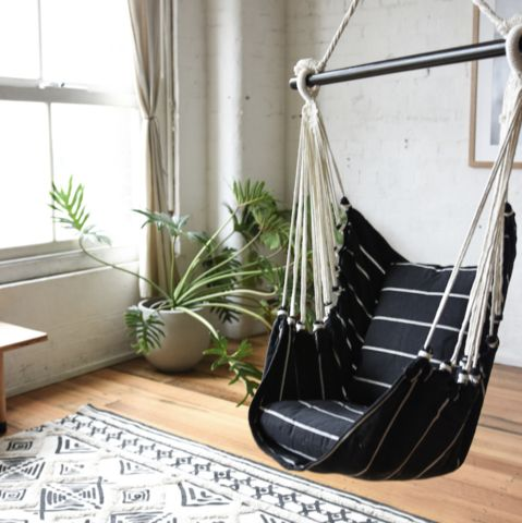 Collective Sol Noosa Hammock Chair Swing - Black & White
