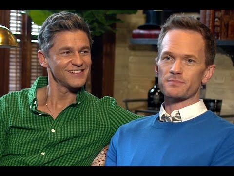 AD visits Neil Patrick Harris and David Burtka at their 1904  brownstone in Harlem