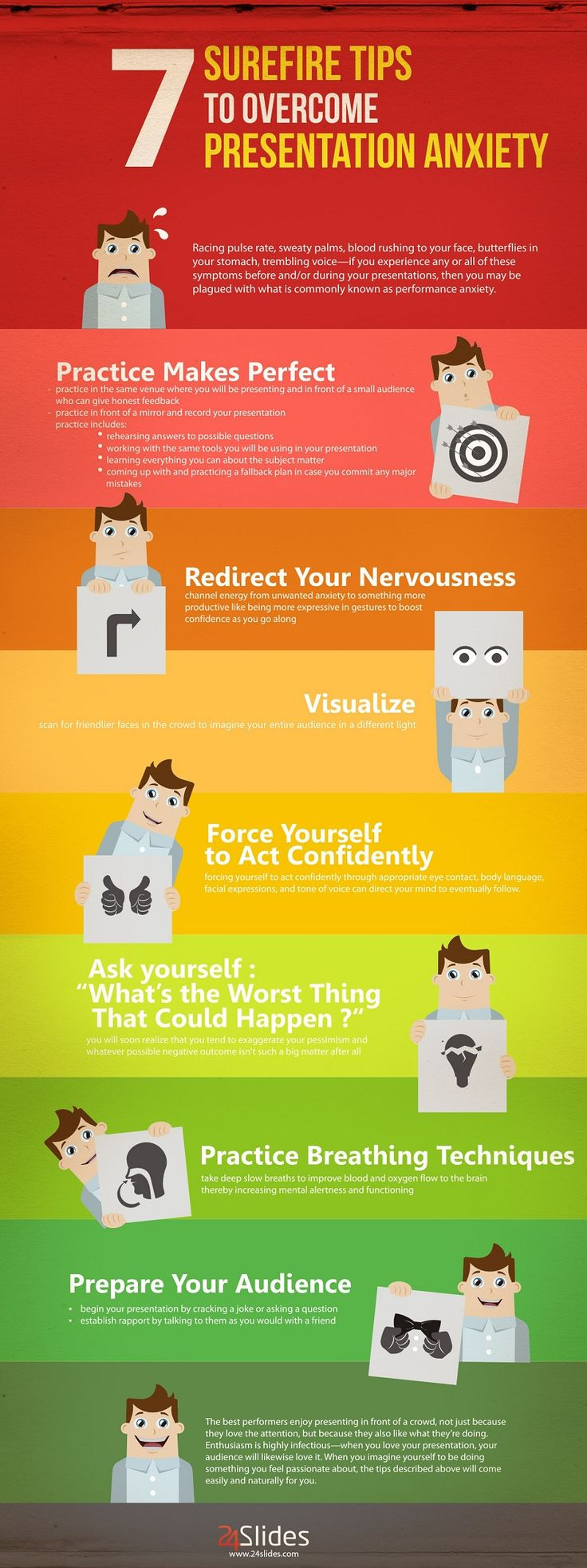 Infographic: 7 Surefire Tips To Overcome Presentation Anxiety