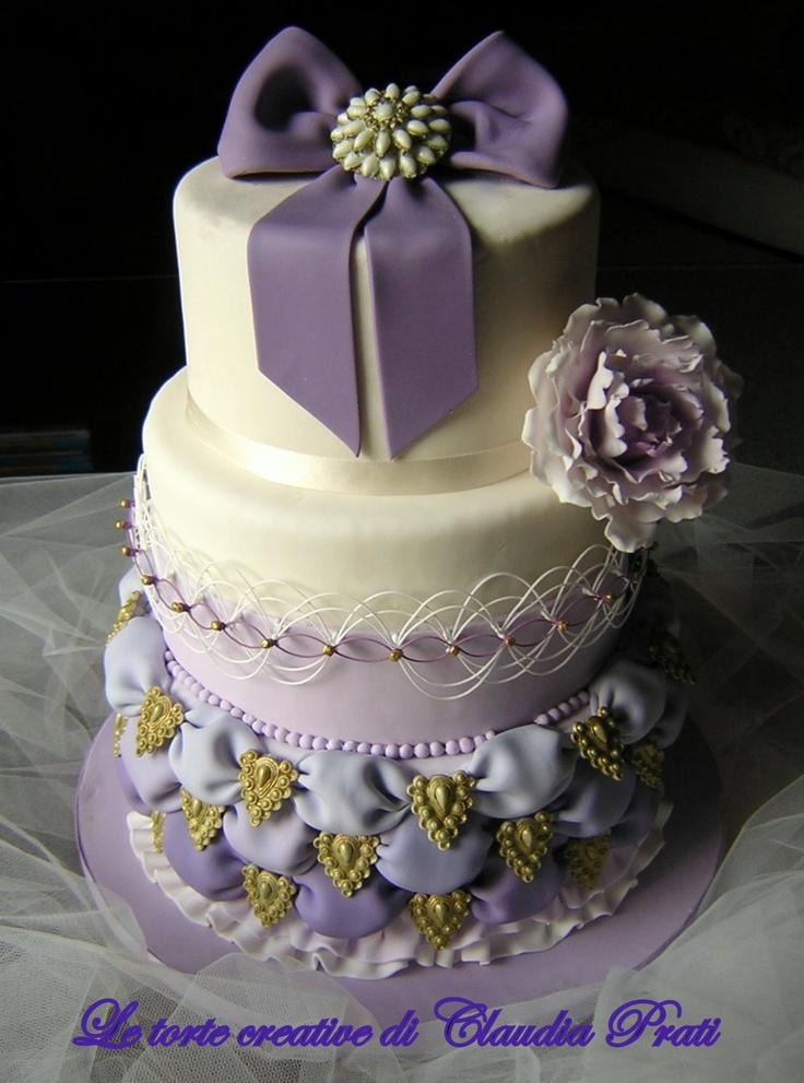 """LE TORTE CREATIVE DI CLAUDIA PRATI: Il mio concetto di """"Glamour"""" per una wedding cake..."""