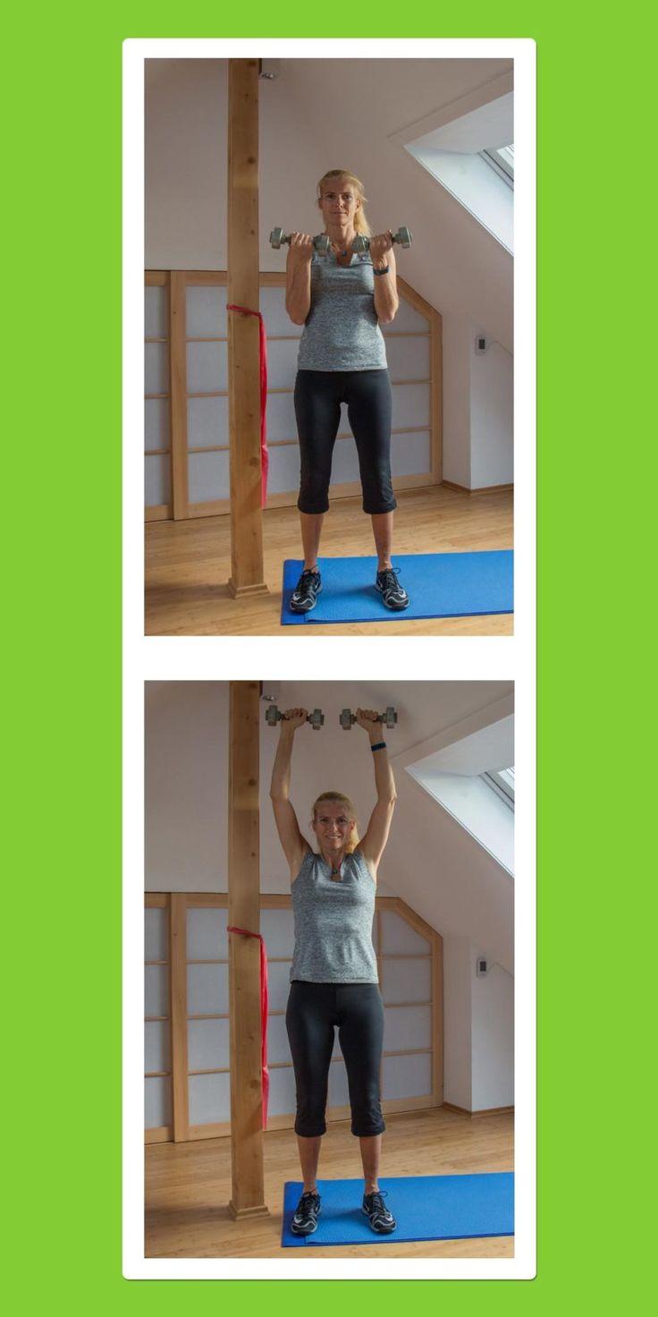Übungen für den Rücken: Hanteldrücken