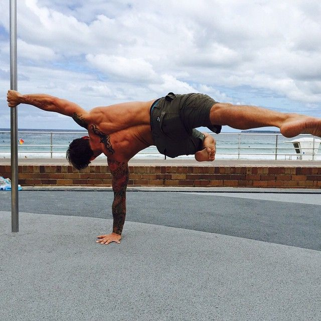A Human Flag Truly Is A Simultaneous Push And Pull