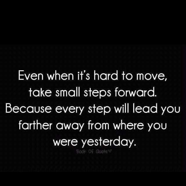 Small steps are ok