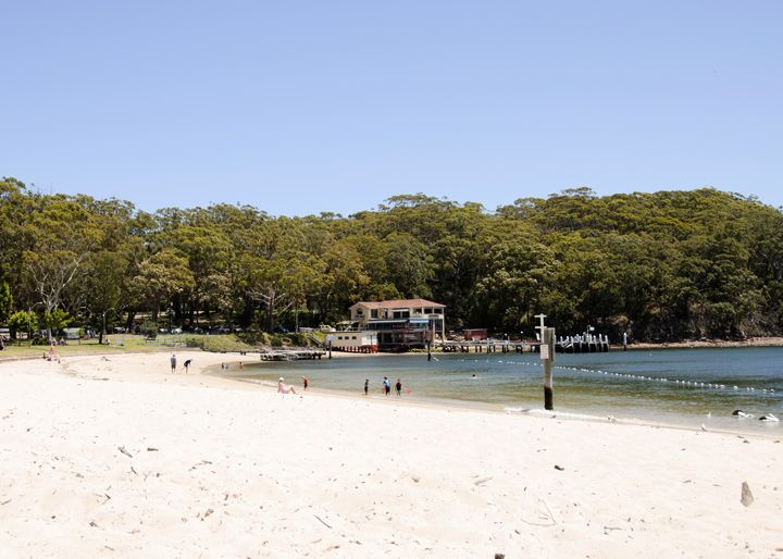 Little Beach, Nelson Bay, Port Stephens. Little Beach is just that, a 'little beach' with calm waters set amongst gorgeous bushland. It also has a children's playground and takeaways/cafes close by. #littlebeach #portstephens