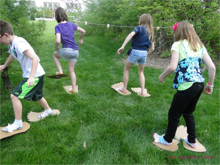Easy step-by-step tutorial with photos showing you how to make Bigfoot Cardboard Feet for your Bigfoot or Sasquatch party.