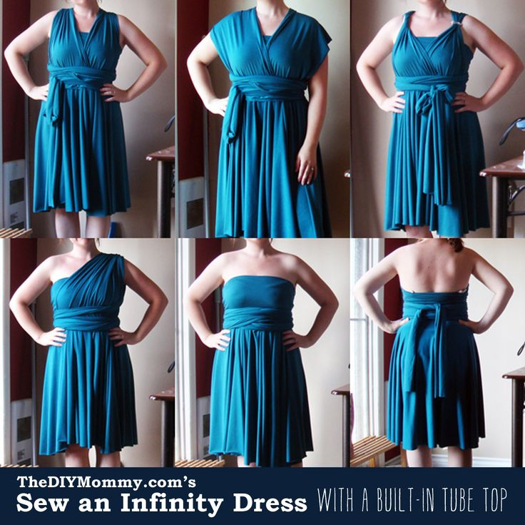 Sew an Infnity Dress with a Built-In Tube Top by The DIY Mommy