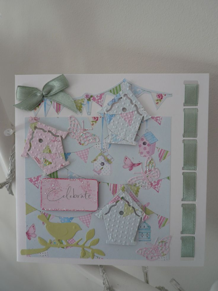 CELEBRATE Handmade Card using Docrafts Lucy Cromwell Papers