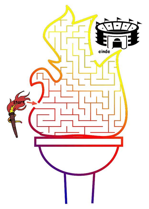 puzzel doolhof olympische-vlam