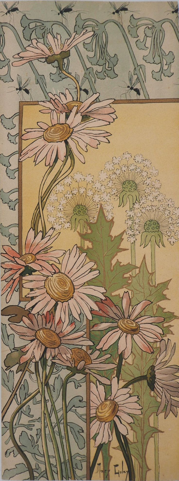 Art Nouveau : Daisies, Thistles And Umbels