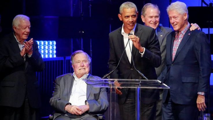 Former US presidents gather for hurricanes fundraiser via Johnny_W94 #news #worldnews
