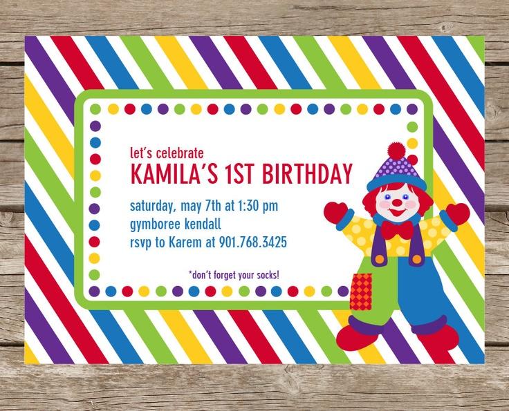 Gymboree Inspired Birthday Party Printable Invitation - Party Invite. $15.00, via Etsy.