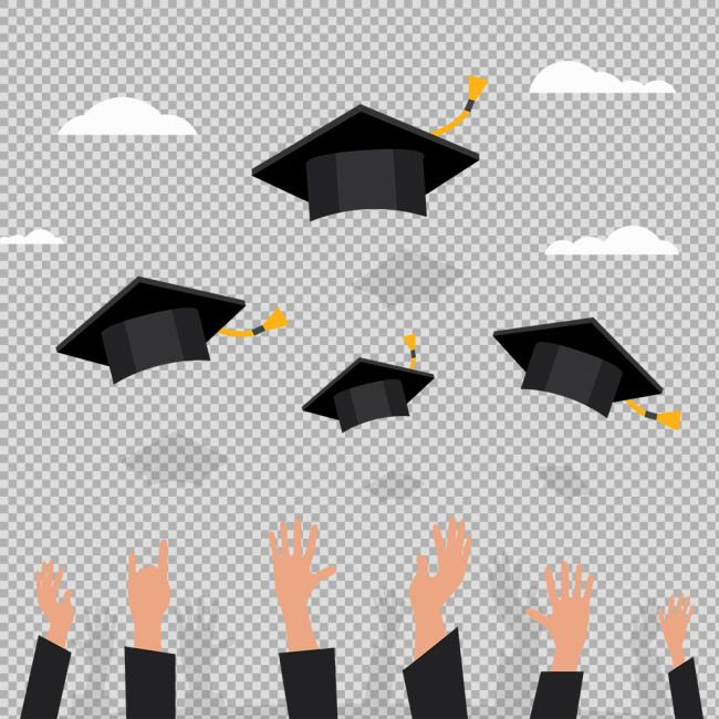 The Hand Toss The Graduation Cap To Avoid The Png Transparent Layer Material Download The Hd Full Version On Heypi Layers Design Poster Design Seasons Posters