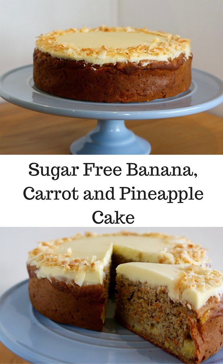 Sugar Free Banana, Carrot and Pineapple Cake. This cake so good, all the flavours together well. What makes it even better is that it is super easy to make, and you only need to use two bowls!