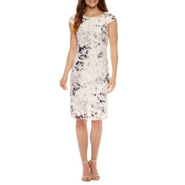 FREE SHIPPING AVAILABLE! Buy Liz Claiborne Short Sleeve Lace Sheath Dress at JCPenney.com today and enjoy great savings.