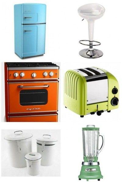 18 best retro vintage kitchens images on pinterest for Dream kitchen appliances
