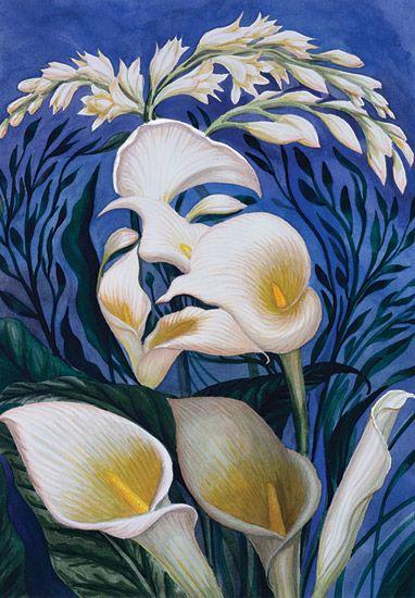 ♥ Octavio Ocampo - Ecstasy of the Lilies