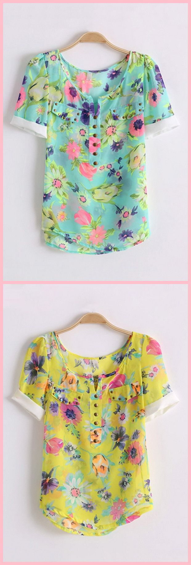 Blusa Floral de Chiffon