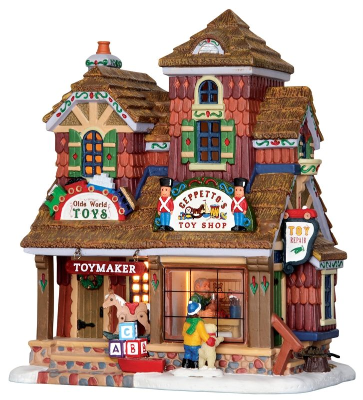 Lighted Christmas Village Houses