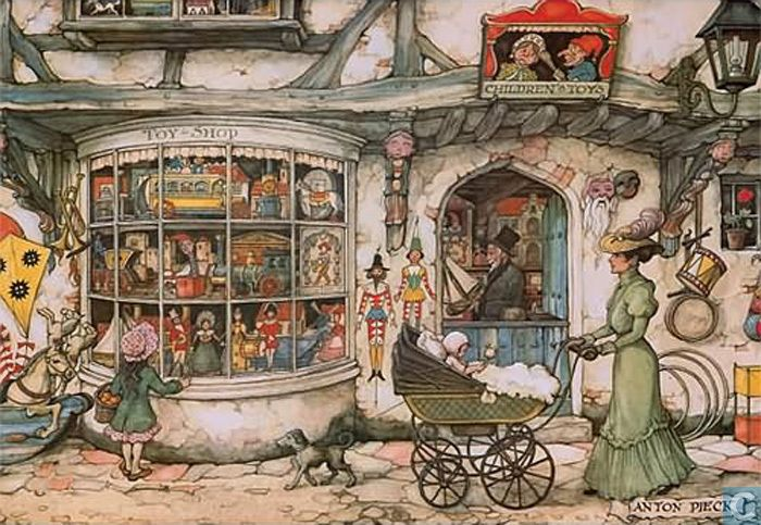 The Toy Shop by Anton Pieck