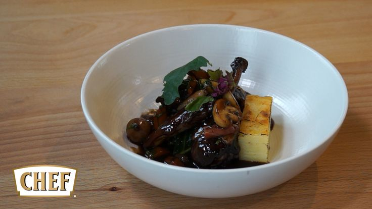 Coq Au Vin recipe with Pomme Anna (potato terrine) by professional chef Andrej Prokes    #NestléCHEF #stocks #sauces #coqauvin #chicken #potatoes #recipes #chefs