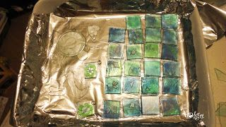 Recycle old cd.how to make glass tiles?