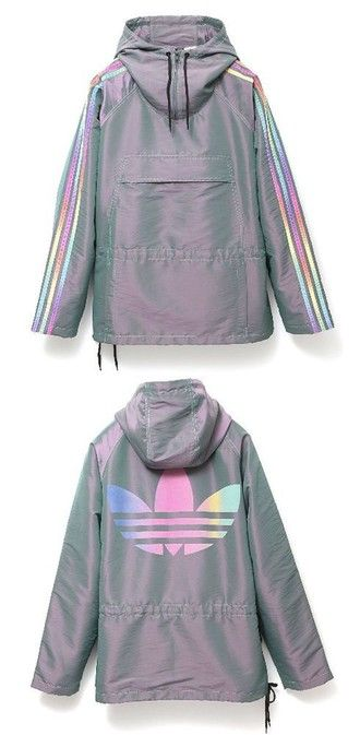 jacket adidas adidas jacket winbreakers adidas originals holographic grey hoodie windbreaker sportswear parka rad purple rainbow multicolor tumblr tumblr aesthetic aesthetic tumblr adidas coat womens parka