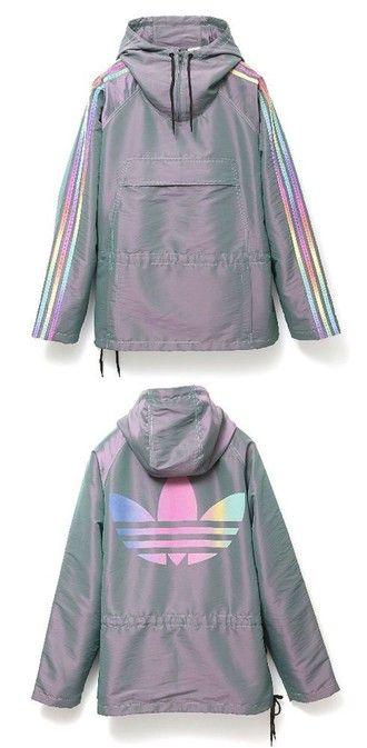 jacket adidas adidas jacket winbreakers adidas originals holographic grey hoodie windbreaker sportswear parka rad purple rainbow multicolor tumblr tumblr aesthetic aesthetic tumblr adidas coat womens parka