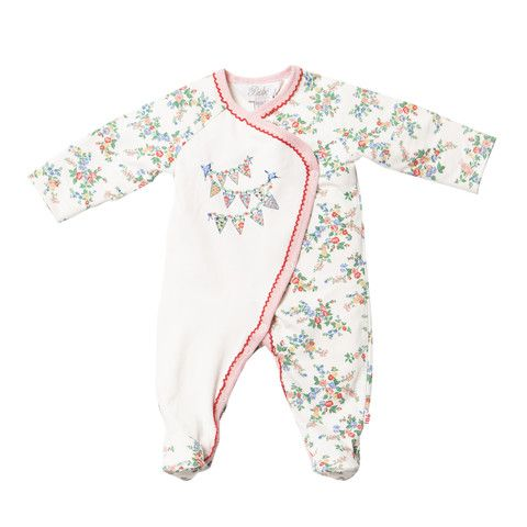 Bebe Maple XW14-855 Maple Cream Maple Print L-S Wrap Romper w Feet – Sweet Thing Baby & Childrens Wear #Winter #Cloth #Girl sweetthing.com.au