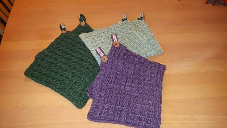 Potholders. Crochet waffel pattern.