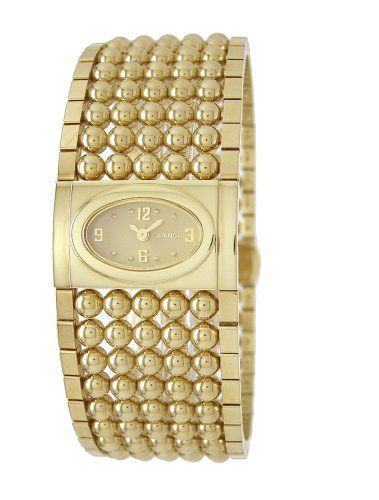 "Roberto Bianci Women's 9091L_G ""Prestigio"" Gold-Tone Watch Roberto Bianci. $291.74. Water-resistant to 99 feet (30 M). Case diameter: 33 mm. Gold-tone-stainless-steel case; gold dial. Scratch-resistant-sapphire crystal. Precise Swiss-quartz movement"