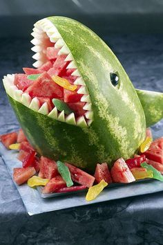 Watermelon shark carving i am doing this next!!