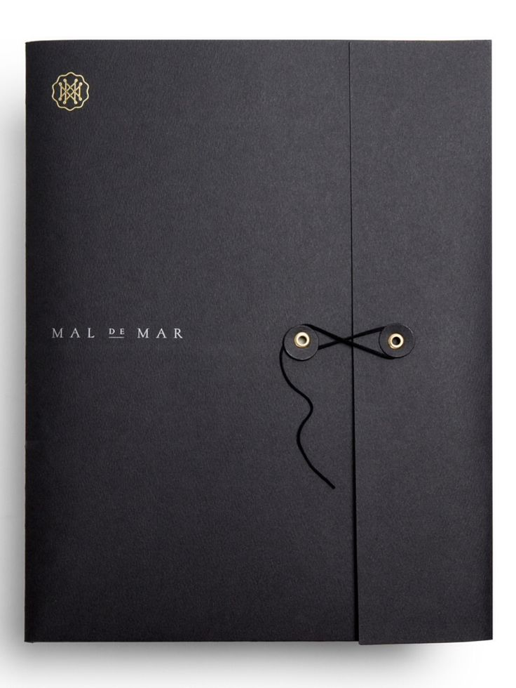 Folder 4: The closing on this folder and the foiled detailing gives it a really high-end feel.   Mal de Mar