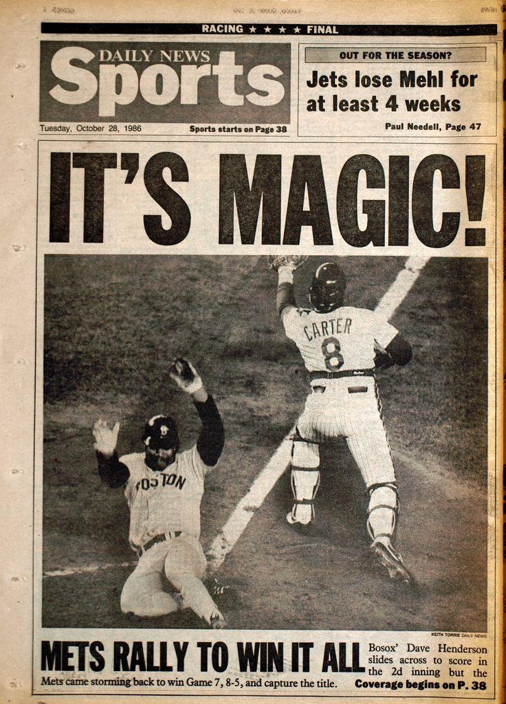 1986 World Series | MetsPolice.com 1986 World Series Game 7 Daily News Back 2