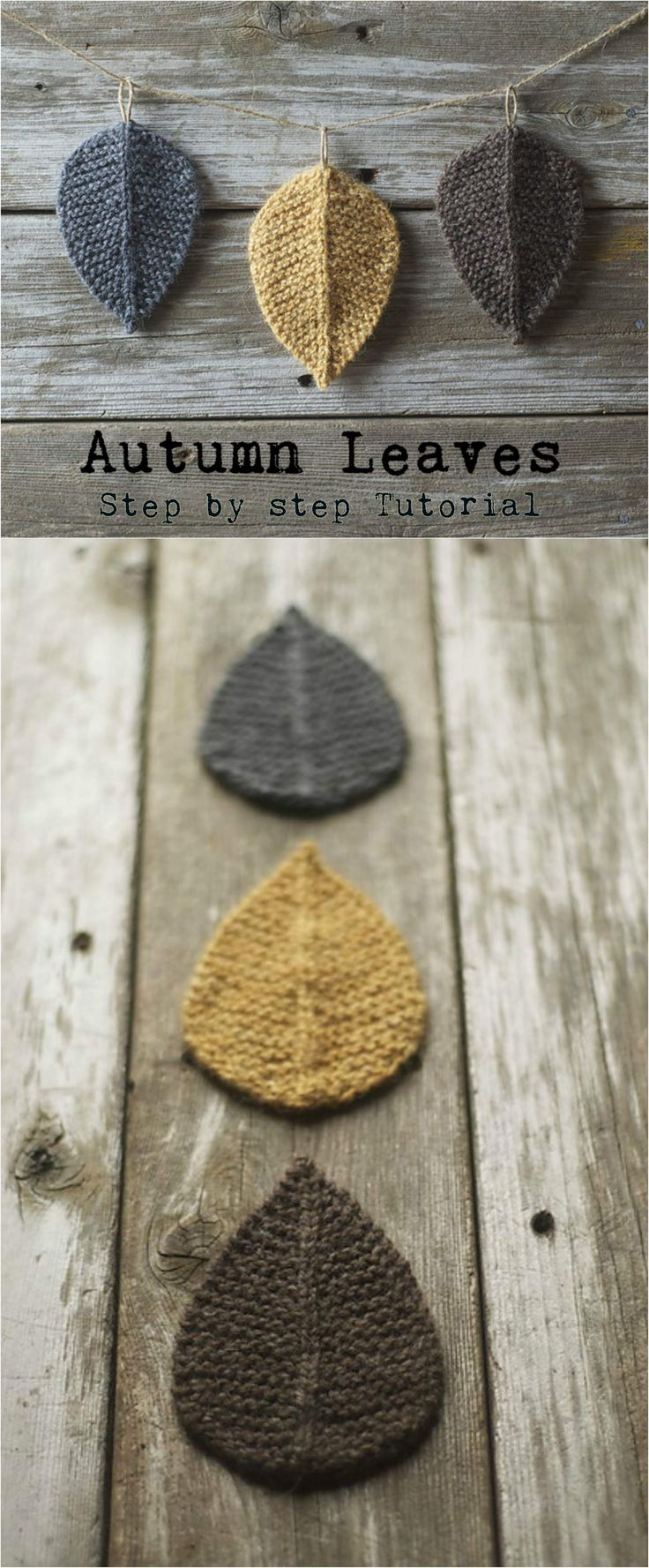 Knit Autumn Leaves