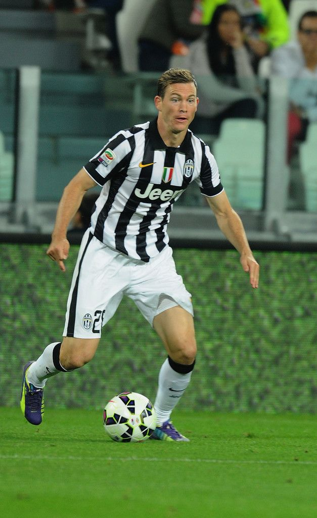Stephan Lichsteiner of FC Juventus in action during the Serie A match between Juventus FC and AC Cesena at Juventus Arena on September 24, 2014 in Turin, Italy.