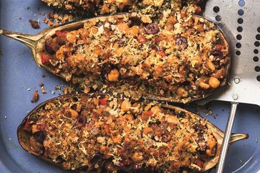 Davina McCall's stuffed aubergines recipe