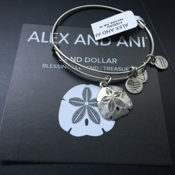✨ALEX AND ANI SAND DOLLAR RARE BRACELET  ☀️NEW WITH TAGS ALEX AND ANI RARE FIND SAND DOLLAR SILVER BRACELET  Alex & Ani Jewelry Bracelets