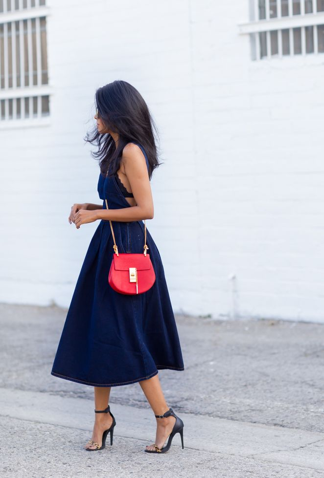 navy + red/coral