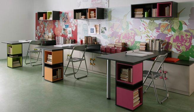 Cómo decorar la zona de estudio según el número de hijos: How To Decorate, Search, Decorar Estudio, De Despacho, Estudio Con, Study, Con Google, Despacho Para, Despacho Con